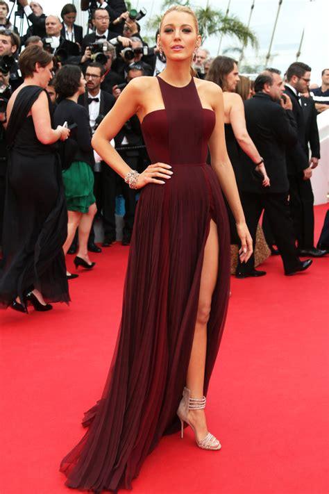 celebrity red carpet dresses kzdress blake lively dress burgundy red carpet dress celebrity