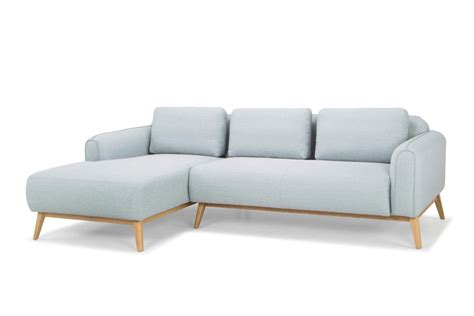 Left Sectional Sofa Furniture Maison Powder Blue Regia Sectional Sofa Left