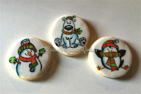 hand painted christmas cookie connection