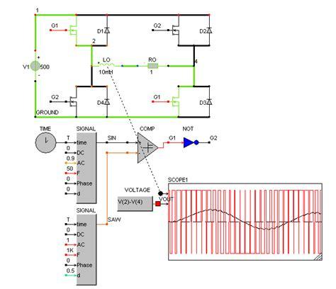 single phase pwm inverter circuit diagram caspoc help pwm