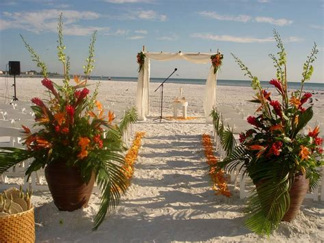 tropical themed siesta key wedding beautiful tropical theme flowers by