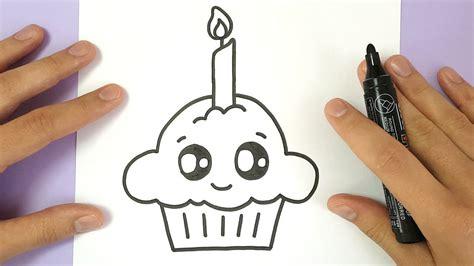 draw  cute birthday cupcake easy youtube