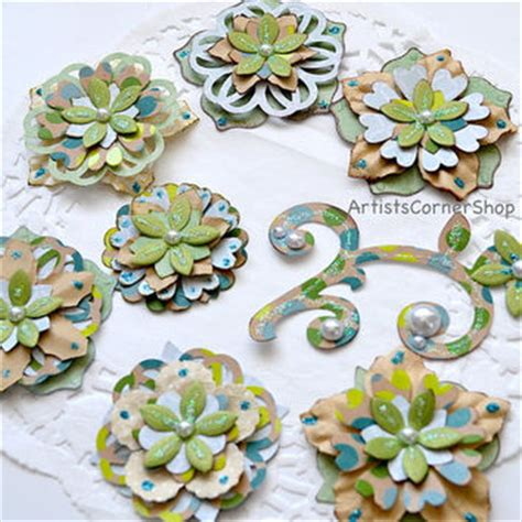 Floral Embellishments For Your Scrapbook Layouts by Best Paper Flower Embellishments Products On Wanelo