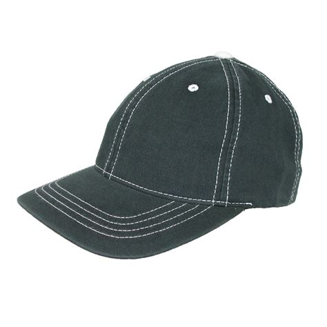 cotton contrast stitch sports baseball hat by flexfit