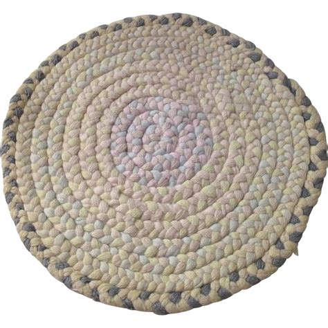 Vintage Braided Rugs by Vintage Doll House Cotton Braided Rug From