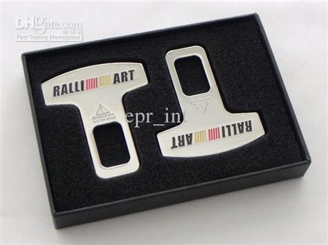 Penjepit Safety Belt Ralliart 2 ralliart safety seat belt buckle insert chrome copper electroplate evo7 8 9 x fto from epr int
