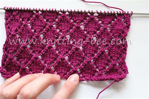 diamond shaped knitting pattern diamond lace free knitting stitch knitting bee