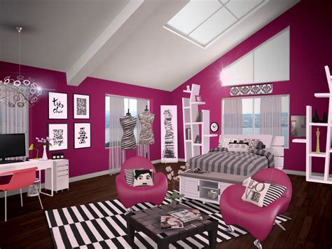 black and white teenage girl bedroom ideas teenage girl bedroom paint colors in black and magenta with pink arm chairs and white