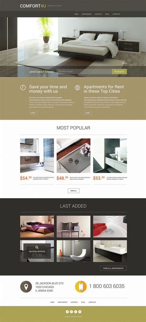 Top 40 Off The Shelf Wordpress Themes For Business Web Template Customization Apartment Website Templates Free
