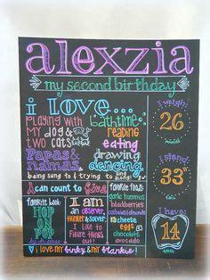 chalkboard paint on poster board second birthday chalkboard poster digital poster sign