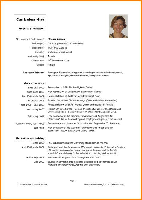 Modelo Curriculum Vitae Resumen Modelo De Curriculum Vitae