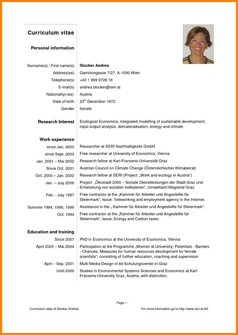 Modelo Curriculum Europeo Pdf 7 Modelo Curriculum Vitae Pdf Sephora Resume