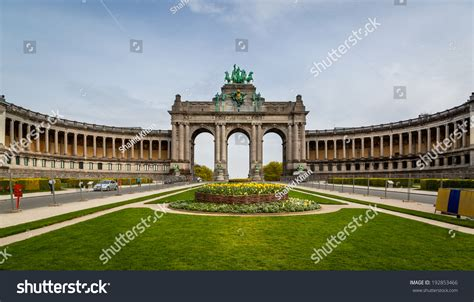 u shaped building u shaped building erected on occasion stock photo