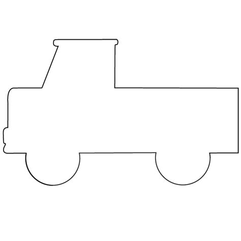 vehicle outline templates truck template toddler busy bag and book ideas