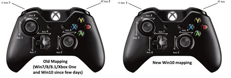 unity layout controller alert xbox controllers axis mapping changed on win10