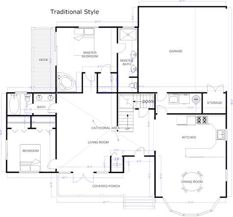 smartdraw floor plan floor plan maker draw floor plans with floor plan templates