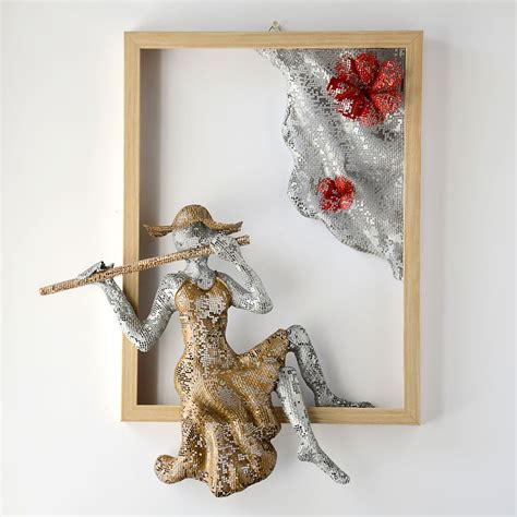 Home Interior Angel Figurines by Metal Wall Art Nuntchi Wire Mesh Sculptures