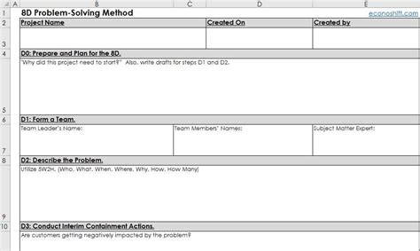 Excel Template Download Instructed Lss And Pm Templates For Free Problem Solving Template