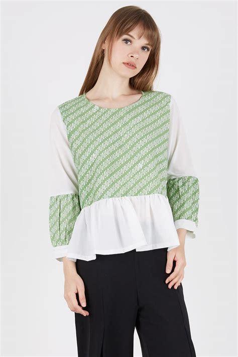 Dress Bahan Polyester Bertektur 3d Pakaian Wanita inilah model baju batik kombinasi modern yang paling pas buat kamu