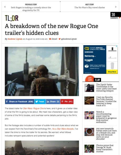 A Place Trailer Breakdown Breaking The Breakdown Of The Quot Wars Rogue One Quot Trailer Overthinking It
