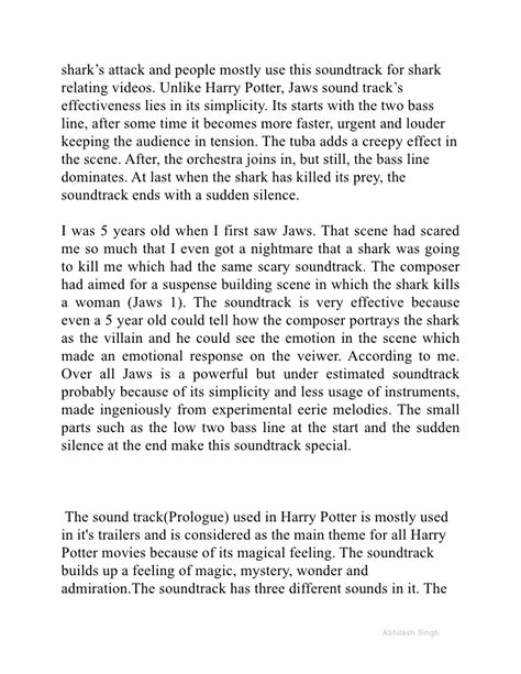 thesis abstract about music harry potter essay extended essay harry potter vs king