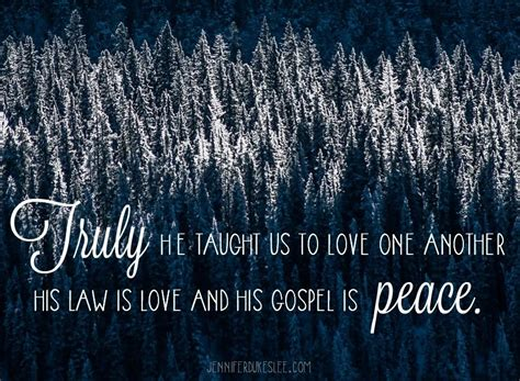 taught   love    law  love   gospel  peace love