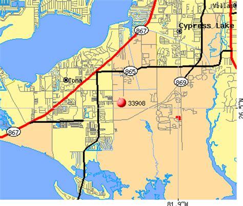 zip code map fort myers 33908 zip code iona florida profile homes apartments