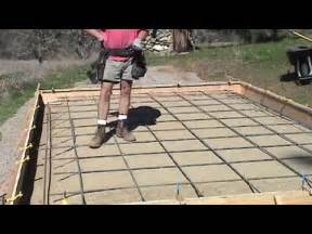 Do I Need Rebar In Concrete Patio by Rebar Grid For Concrete Slab Youtube