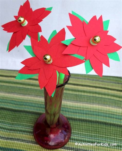 poinsettia paper craft poinsettia flower craft printable template poinsettia