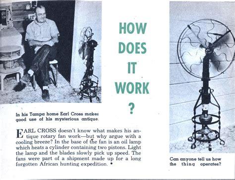 how do heat powered fans work a cool 1956 sterling waste heat fan modern mechanix