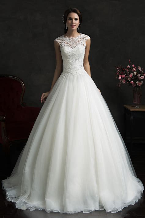 Wedding Dresses On Sale by Aliexpress Buy 2015 On Sale White Organza Gown