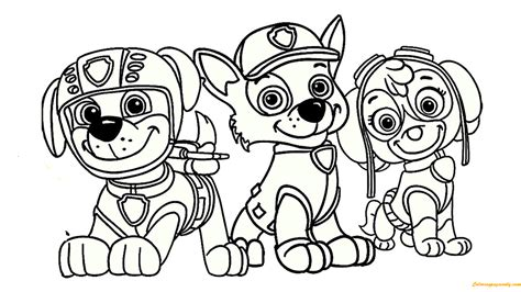 free coloring pages of paw patrol luke stars coloring page www paw patrol coloring pages com paw
