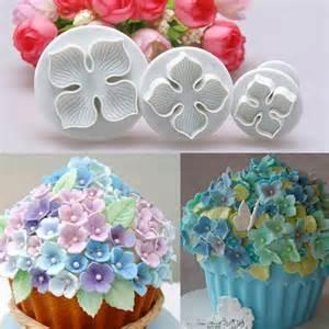 Cake Decorating Fondant Flowers by 3pcs Hydrangea Fondant Cake Decorating Sugarcraft Plunger