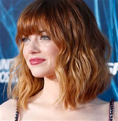 emma stone angled lob emma stone angled lob el nuevo corte de pelo de moda lob