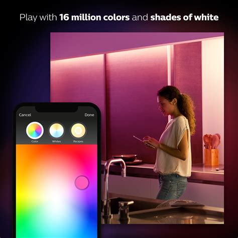 philips hue lightstrip plus 6 6 dimmable led smart light philips hue white and color ambiance lightstrip plus