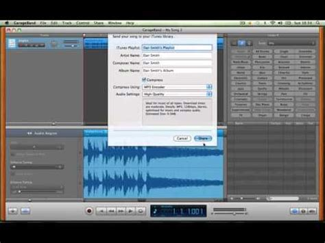 Garage Band To Mp3 by How To Save Garageband Files As Mp3