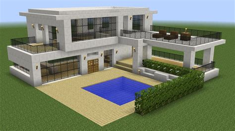 modern house minecraft minecraft how to build a modern house 5 youtube