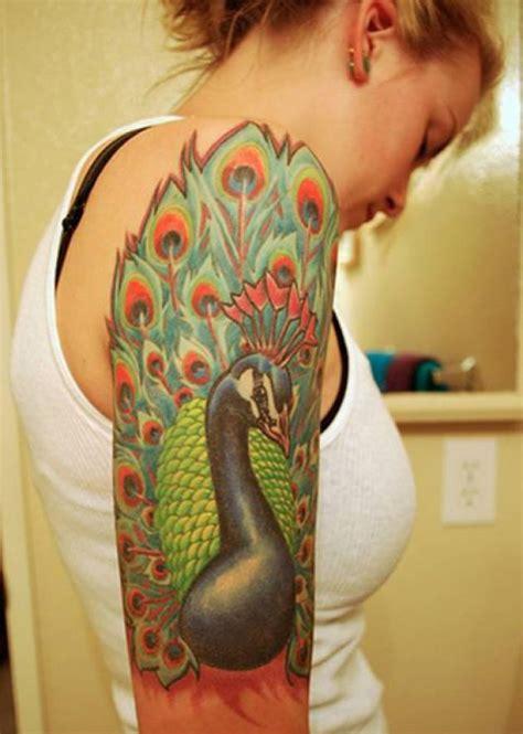 peacock arm tattoo designs peacock tattoos