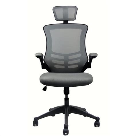 High Back Office Chair With Headrest by Executive High Back Office Chair With Headrest In Silver Grey Rta 80x5 Sg