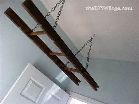 hanging a ladder from the ceiling 25 best ideas about hanging ladder on wooden