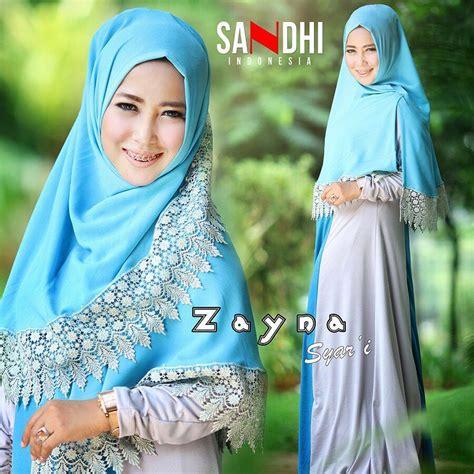Gamis Faisa Syari Busana Muslim By Sandhi busana muslim branded zayna syar i by sandhi