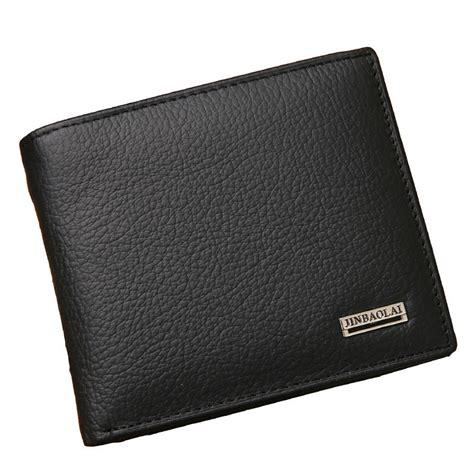 Black Walet Aliexpress Buy 100 Genuine Leather Mens Wallet