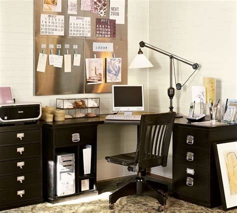bedford corner desk set pottery barn offices