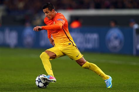 alexis sanchez on barcelona alexis sanchez in paris st germain v barcelona 5 of 11