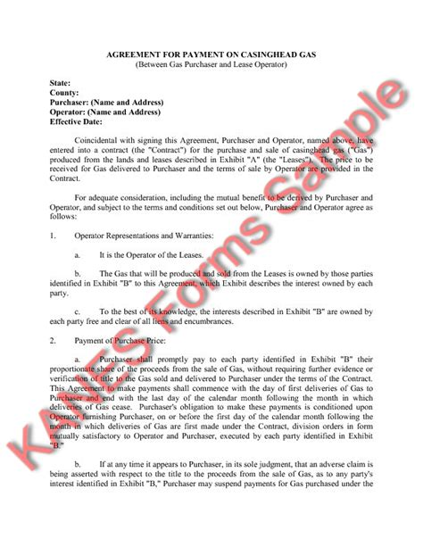 Letter Agreement And Gas Basic Gas Sle Forms And Master Index Version 2