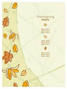 thanksgiving template word thanksgiving menu template for excel pdf and word