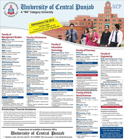 Central Washington Bs And Mba by Bba Bs Mba Bsc Admissions 2012 In Of Central