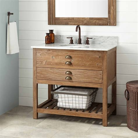 Wooden Bathroom Furniture Uk 36 Quot Benoist Reclaimed Wood Vanity For Undermount Sink Pine Undermount Sink Vanities