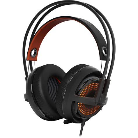 steelseries siberia 350 gaming headset black orange