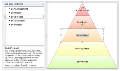 Safety Pyramid Template how to create a maslow s pyramid of needs in powerpoint